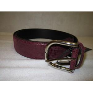 ceinture bordeaux cuir