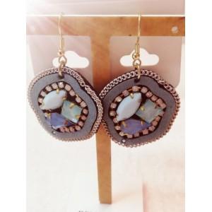 Boucles d'oreilles fantaisie bleues