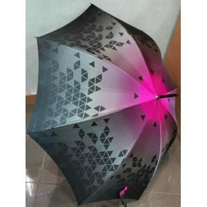 Parapluie manuel noir et mauve francais
