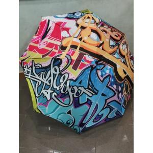 Parapluie manuel multicolore flashy francais