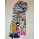Foulard COWO multicolore